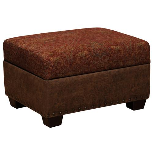 Burly Upholstered Storage Ottoman