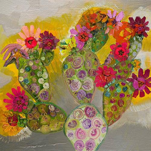 Cactus Flower Canvas Art