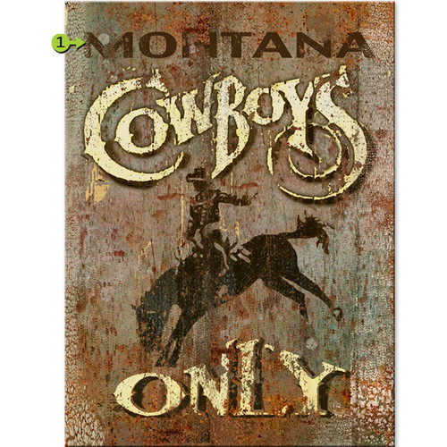 Cowboys Only Personalized Sign - 17 x 23
