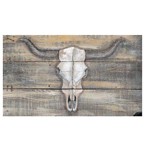 Cracked Longhorn Skull Wall Art