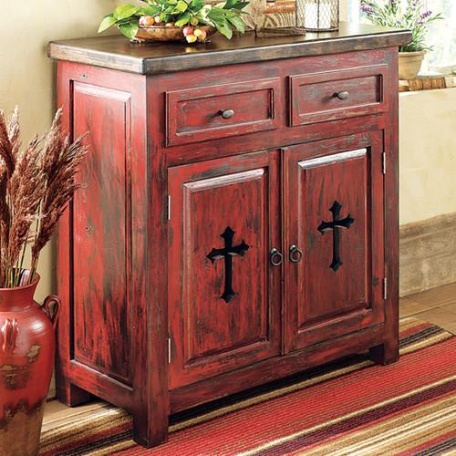 Santa Fe Cross Cabinet