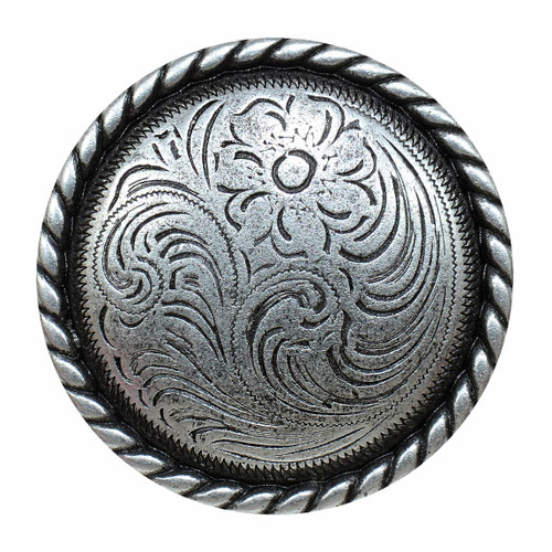 Engraved Flower Cabinet Knob