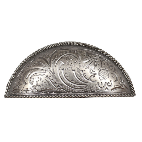 Engraved Flower Cup Cabinet Pull