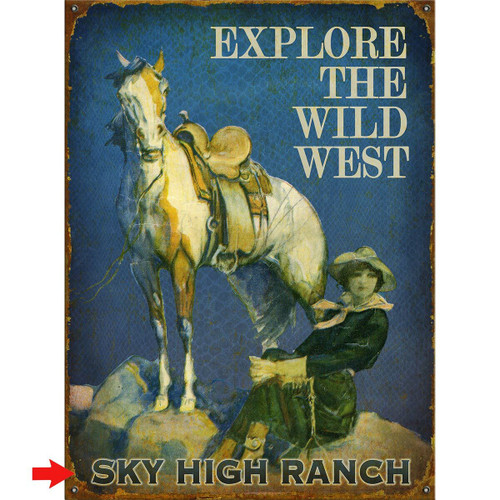 Explore the Wild West Personalized Sign - 28 x 38