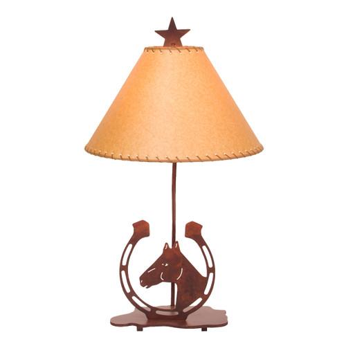 Horse & Horseshoe Table Lamp