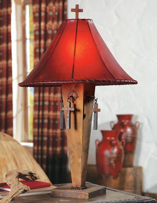Iron Cross Lamp