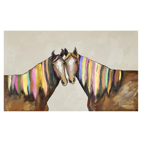 Kaleidoscope Horse Cream Canvas Art