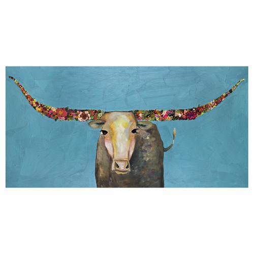 Longhorn Blossom Canvas Art