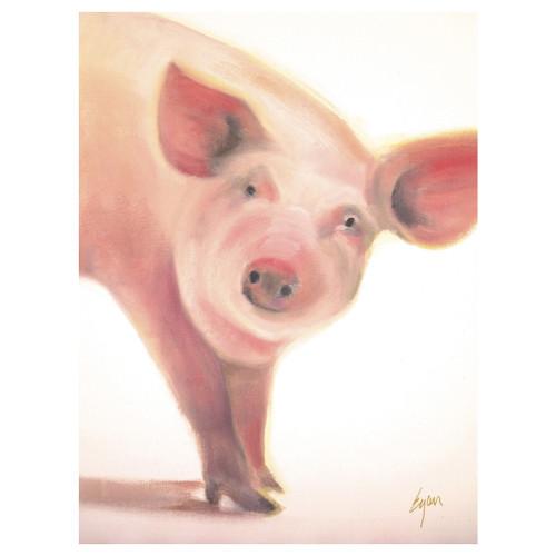 Mable the Pig Portrait Canvas Art