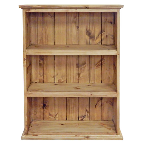 Medium Slatted Pine Bookcase
