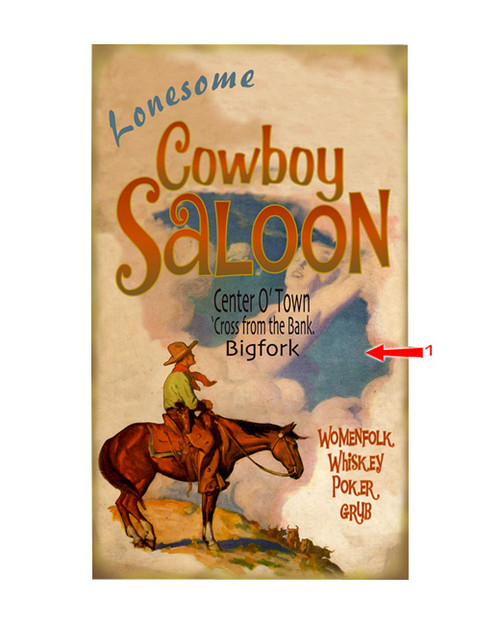 Lonesome Cowboy Saloon Sign