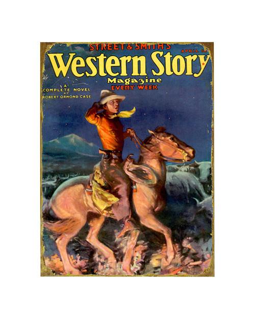 Western Story Magazine Sign