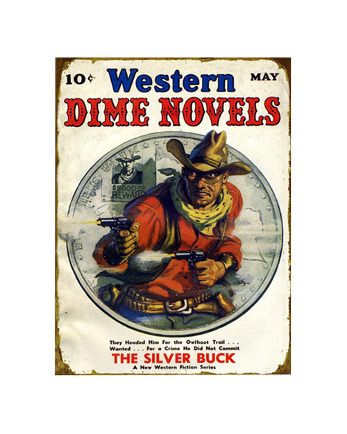 Western Dime Novels Sign