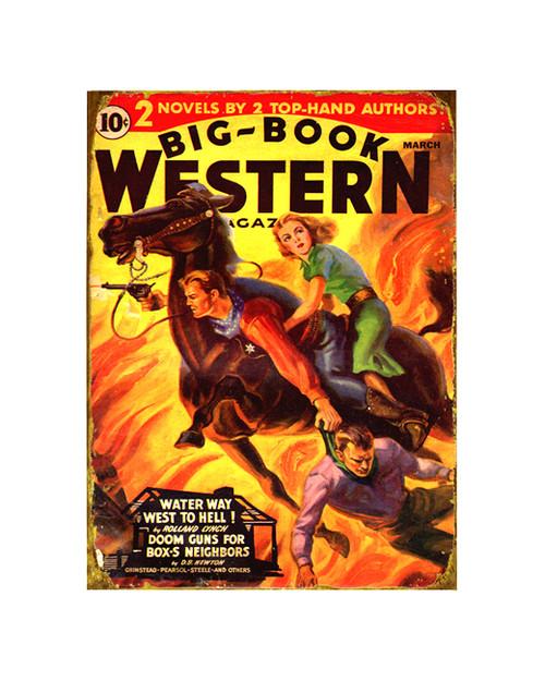 Big Book Western Sign