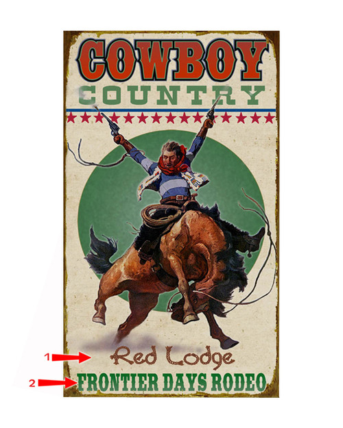 Cowboy Country Sign