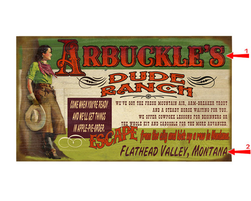 Dude Ranch Sign