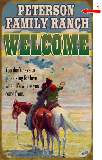 Western Lovers Sign - 14 x 24