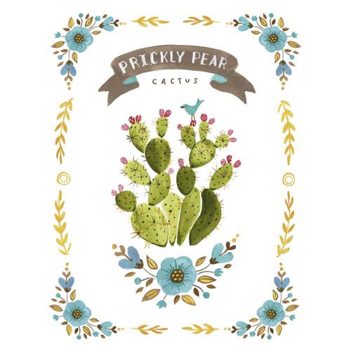 Paddle Cactus Flowers Canvas Art