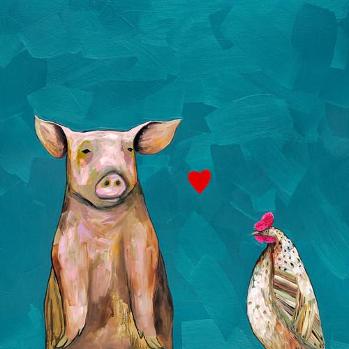 Pig Love Canvas Art