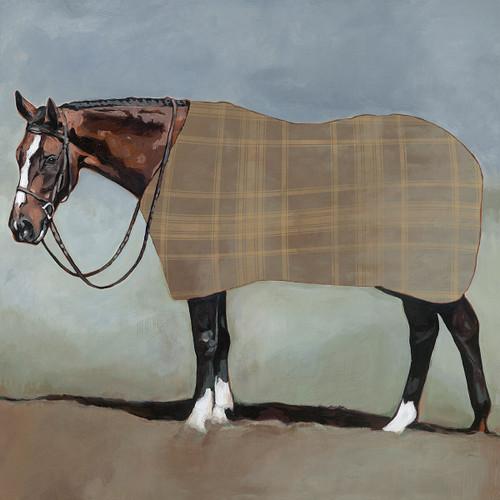 Plaid Horse Canvas Art
