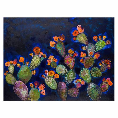 Prickly Pear Night Canvas Art