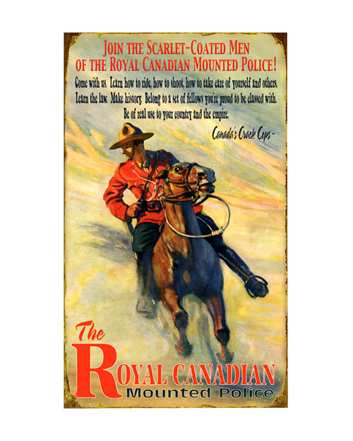 Royal Canadian Mounted Police Sign