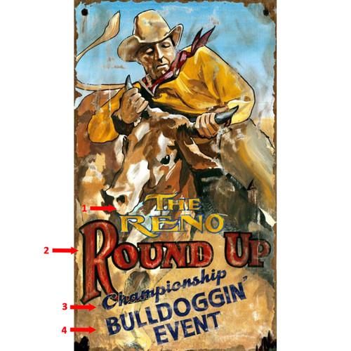 Rodeo Wrestling Personalized Sign