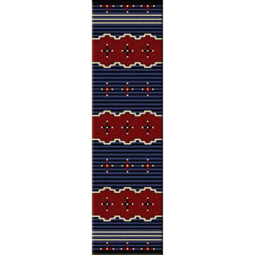 Big Chief Blue Rug - 2 x 8