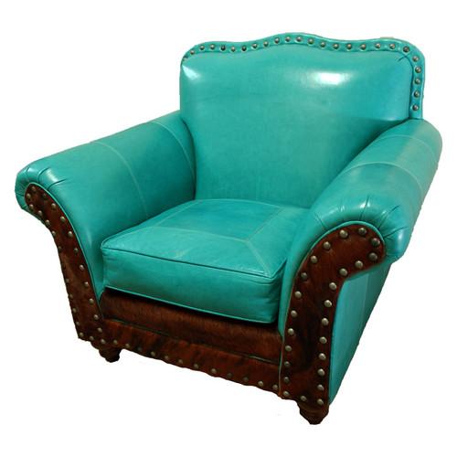 Albuquerque Turquoise Club Chair