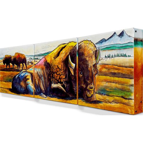 American Buffalo Metal Wall Art - Set of 3