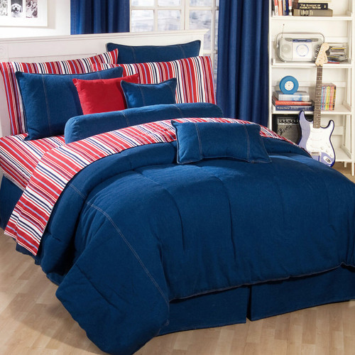 American Denim Comforter Cal King  - OUT OF STOCK