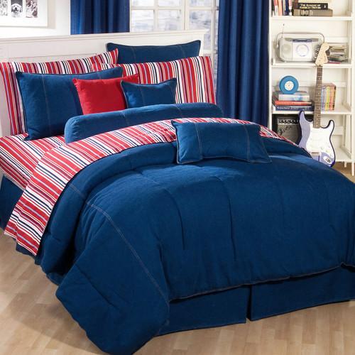 American Denim Comforter Queen
