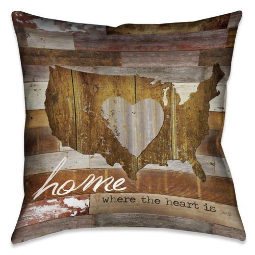American Heart 18 x 18 Outdoor Pillow