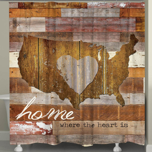 American Heart Shower Curtain