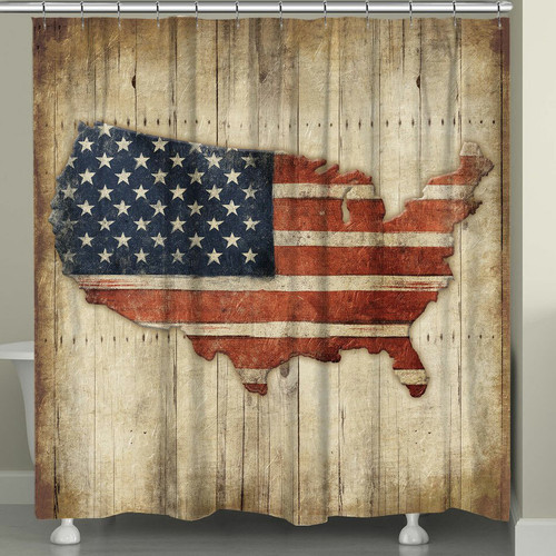 American Made Shower Curtain