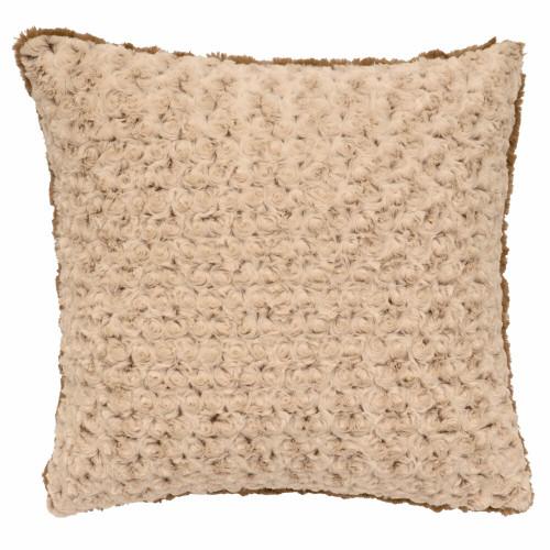 Appalachian Bella Rosebud Fur Pillow
