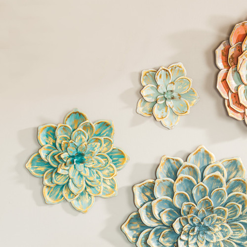 Sedona Metal Wall Flowers - Small - Set of 2