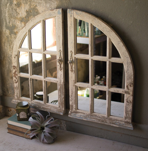 Arched Chapel Window Mirrows - Set of 2