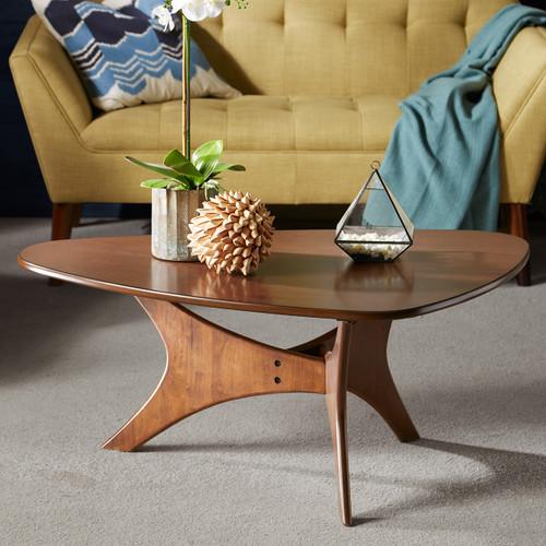Arrowhead Wood Coffee Table - Brown