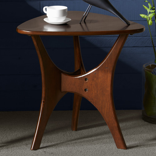 Arrowhead Wood Side Table - Brown