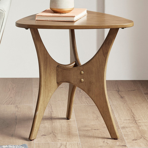 Arrowhead Wood Side Table - Light Brown
