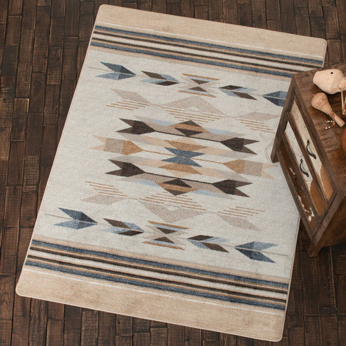 Arrows in Sand Rug - 8 Ft. Round