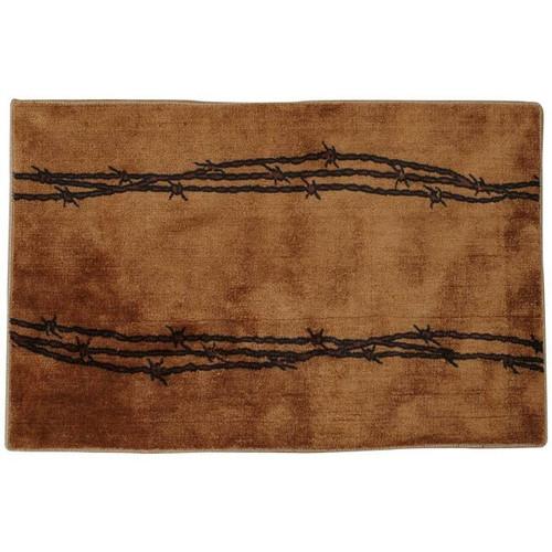 Barbed Wire Tan Bath Rug