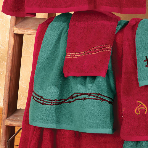 Barbed Wire Turquoise Towel Set - 3 pcs