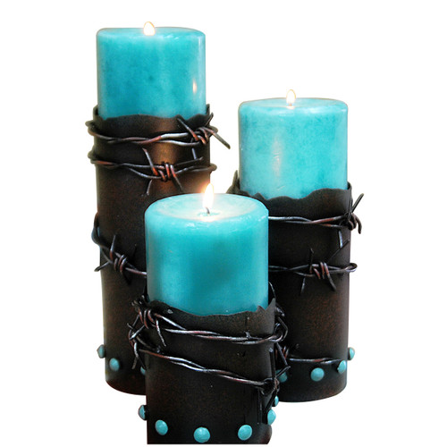 Barbwire Candle Holders - Set of 3