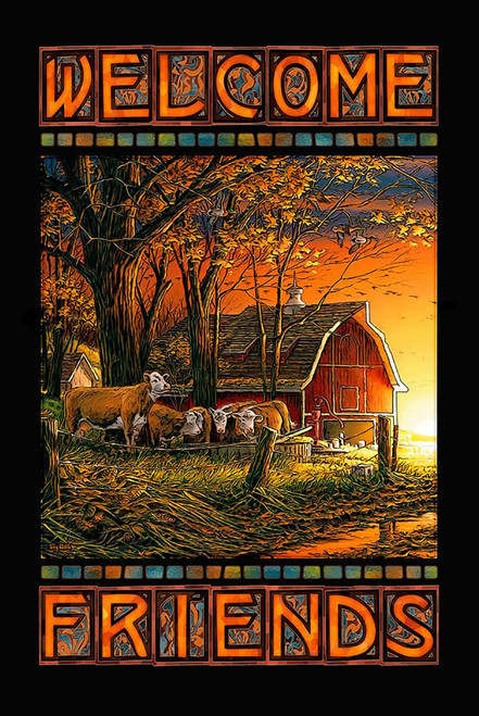 Barnyard Welcome Stained Glass Art