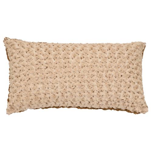 Bella Rosebud Cuddle Fur Rectangle Pillow