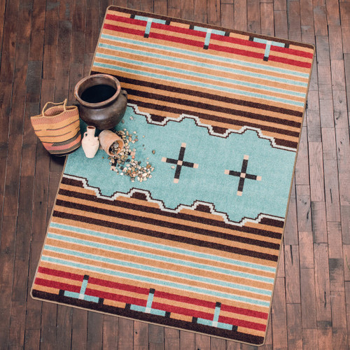 Big Chief Turquoise Rug - 8 Ft. Round
