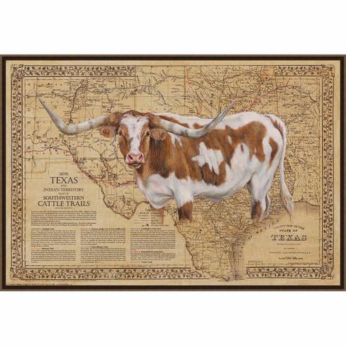 Bigger in Texas Framed Canvas