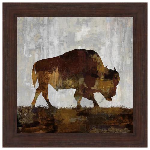 Bison Grazing Framed Print